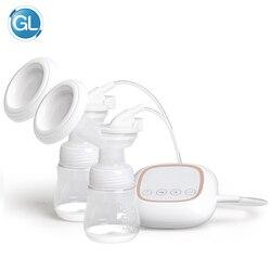 GL Elektrische Brust Pumpe Doppel Flasche Tragbare Hohe saug power USB Ladung Inner Akku Elektrische Brust Pumpe