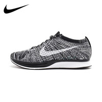 Original Authentic Nike Flyknit Racer Men's Running Shoes Mesh Breathable Outdoor Sneakers Athletic Designer Footwear 526628 012