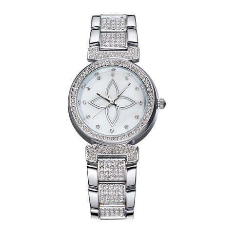 Marca de Topo Nova Moda Luxo Cristal Strass Senhoras Relógio Multi-função Quartzo Pulseira Feminino 2019