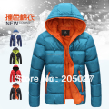 2014 new 5 colors hood thickening thermal lovers men winter down jacket wadded winter jackets for men outerwear no.166506