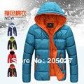2014 nova 5 cores capuz espessamento amantes térmicas homens inverno down jacket wadded casacos de inverno para os homens outerwear no. 166506