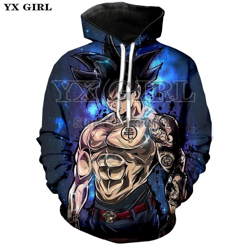 Cartoon hoodie seven dragon ball Z pocket hooded sweatshirt sleeves for men women wearing a new hoodies pluse size XS-7XL