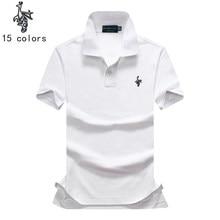 Marcas camisa pólo homens polo Casual camisa Dos Homens Sólida Britânico camisas  pólo cabeça de ovelha a6fcdec2942