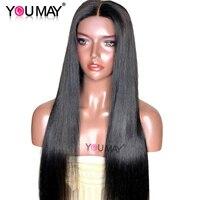 13x4 Синтетические волосы на кружеве человеческих волос парики для Для женщин натуральный черный 250% Плотность Прямо Синтетические волосы на