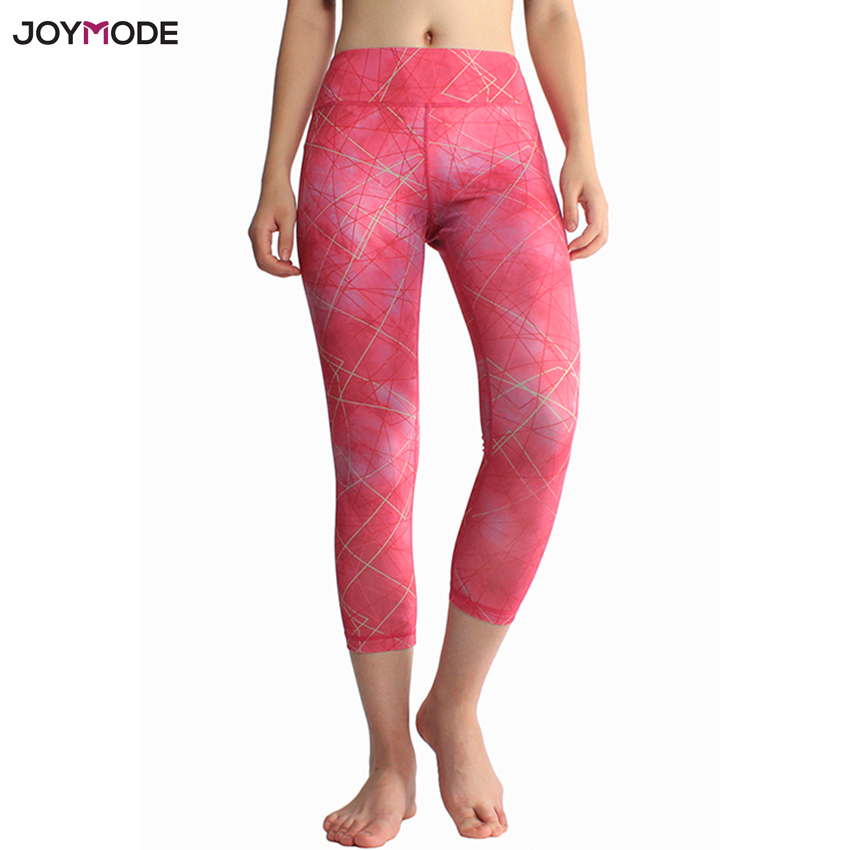 e3b69c5962 JOYMODE 2018 Sexy Training Women s Sports Yoga Pants Leggings Elastic Gym  Fitness Workout Running Tights Compression Trousers-in Yoga Pants from  Sports ...