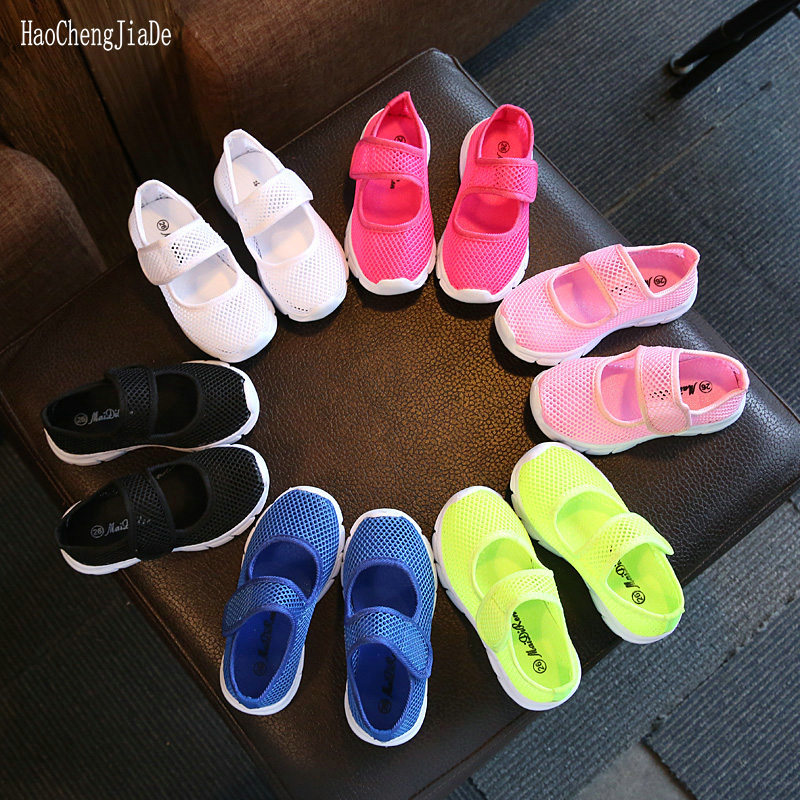 Baby Kids Candy Color Casual Mesh Sneakers Shoes Boy Girl Summer Breathable Shoe