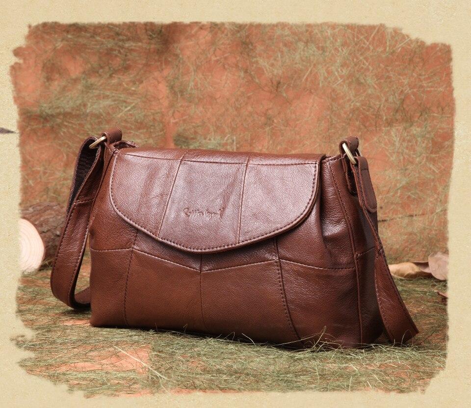 bolsas حقائب الكتف النسائية جلد طبيعي العلامة التجارية 10