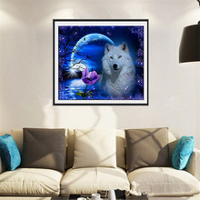 5d diy diamond embroidery moon and dog diamond painting mosaic beadwork pictures Rhinestones for home decor ZS256