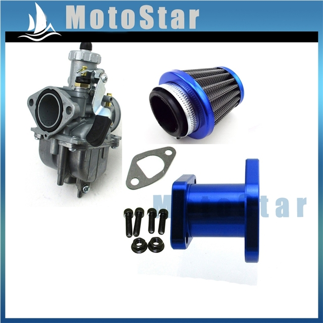US $52 63 30% OFF|Bule Racing Performance Mikuni VM22 3847 Carburetor Carb  Mainfold Air Filter For Predator 212cc GX200 196cc Mini Bike Go Kart-in