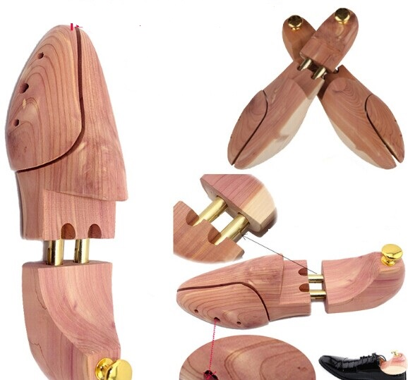 1 par Ny; Sales Leader High Quality Cedar Wooden Shoe Tree Shaper Keeper Justerbar Træramme Sko Træ ...