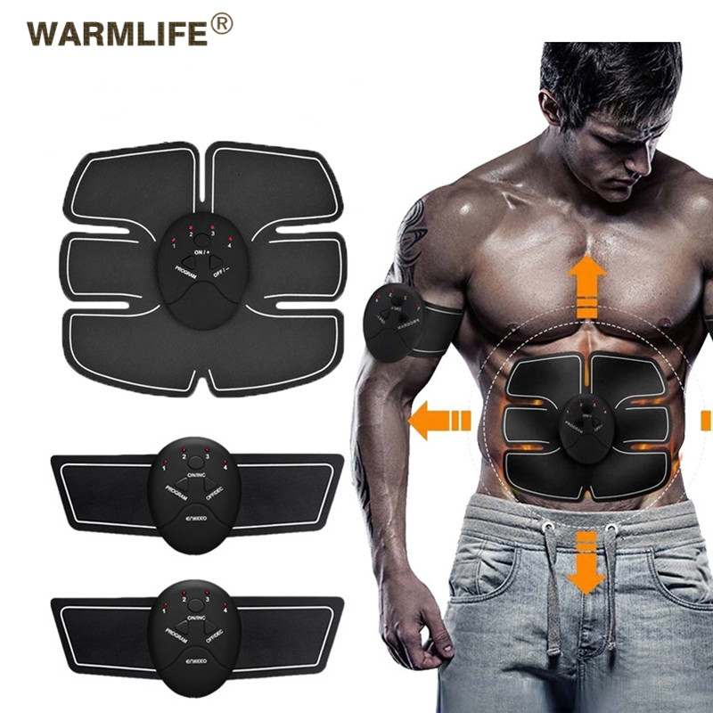 EMS Wireless Muscle Stimulator Trainer Smart Fitness Abdominal Training Electric Weight Loss Stickers Body Slimming Belt UnisexEMS Wireless Muscle Stimulator Trainer Smart Fitness Abdominal Training Electric Weight Loss Stickers Body Slimming Belt Unisex