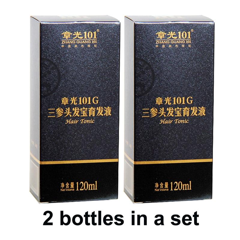 Mundialmente famoso Zhangguang 101g Tônico Capilar 2X120 ml terapia da medicina Chinesa anti cabelo Rebrota Tratamento Capilar Essence perda