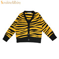 Ins*Spring Autumn Girls Cardigan Leopard Baby Girl Cotton Sweater Kids Knitwear Toddler Boy Cardigans Infant Boys Sweaters