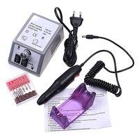 Professional Electric Acrylic Nail Drill File Machine Kit Bits Manicure EU US Plug YF2018