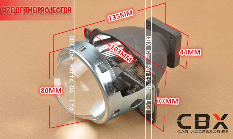 CBX Koito Q5 HID xenon projector lens 3