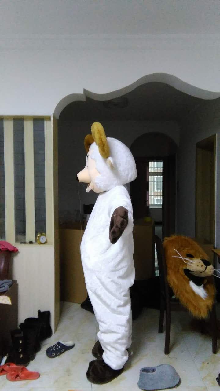 Mouton mascotte Costumes 100% image réelle adultes noël Halloween tenue fantaisie robe costume livraison gratuite 2019New - 2