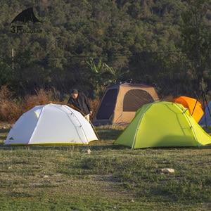 Image 3 - 3F UL dişli Tai Chi 2 Ultralight 2 kişi çadır 3 4 sezon kamp çadırı 15D naylon kumaş çift katmanlı su geçirmez çadır