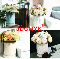 3PCS Set Foil Gold Color Line Good Quanlity Flowers Box Round Box Cardboard Boxes Gift Packing