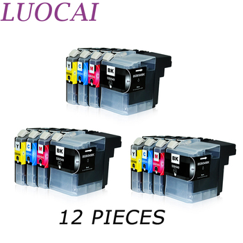 12 pieces LuoCai  LC539 LC535 LC539XL LC535XL LC 539 Compatible ink cartridges For brother DCP-J100  DCP-J105 MFC-J200 printers luocai lc223 lc221 4 pieces compatible ink cartridges for brother mfc j4420dw j4620dw j4625dw j480dw j5320dw j5620dw printers