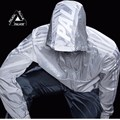 2016 Fashion Off White Men Trench Coat Hip-Hop Offwhite Solid Mens Windbreaker Jacket Off White Zipper Jacket Skateboard For Men