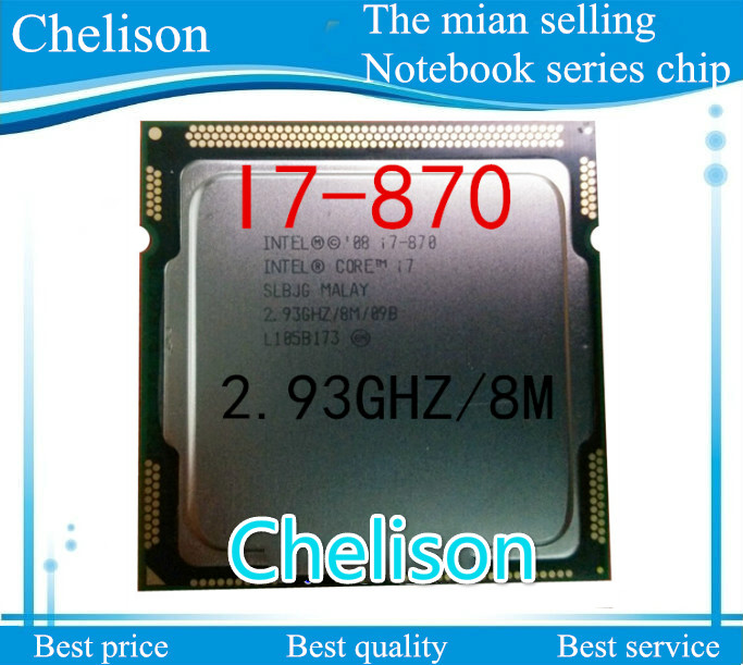 High Quality I7 870 CPU For INTEL Core I7-870 Desktop CPU 8M 2.93 GHz 1333 MHz High Quality