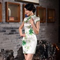 New Summer women Print Cheongsams Traditional Chinese Clothing Evening Ball Gown Women Qipao dress ZA0960