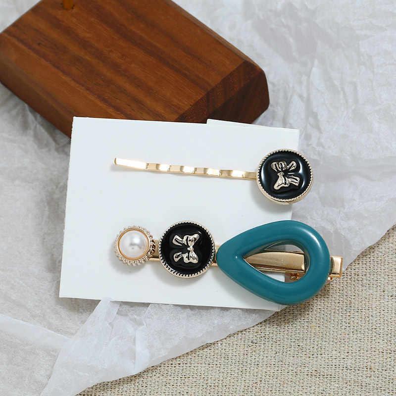 ZOSHI 1 Set Korea Japan Metal Gold Pearl Irregular Acetate Hair Clip for Women Girl Wedding Party Hair Accessories Jewelry