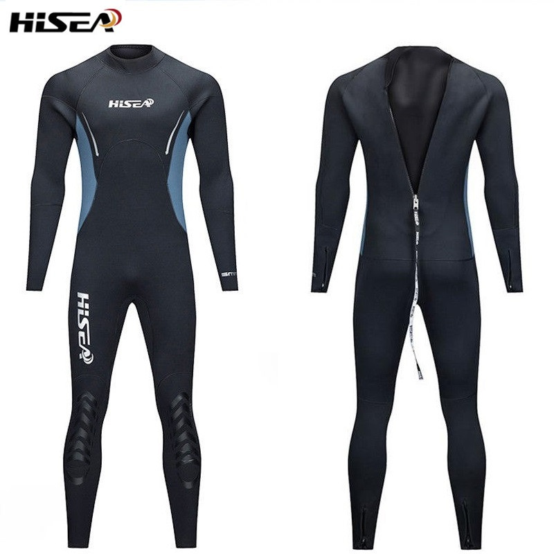 Men's 5mm Neoprene Scuba Diving Lining with Plush Wetsuit Snorkeling Surfing One-piece keep warm Full body Spearfishing wetsuit