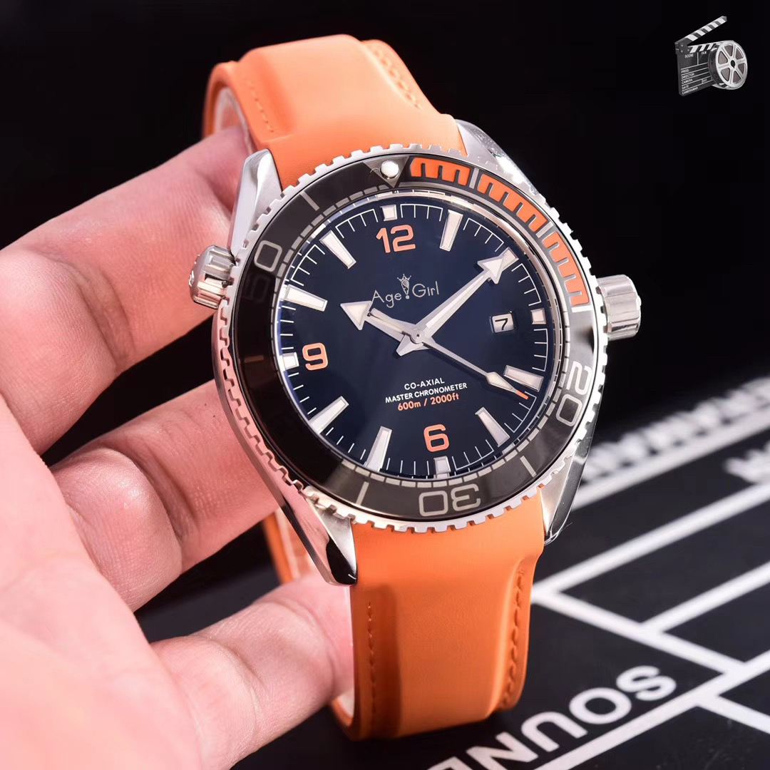 Luxury Brand New Men Automatic Mechanical Orange Blue Black Rubber Stainless Steel James Bond 007 Sapphire Watch Waterproof AAA+Luxury Brand New Men Automatic Mechanical Orange Blue Black Rubber Stainless Steel James Bond 007 Sapphire Watch Waterproof AAA+