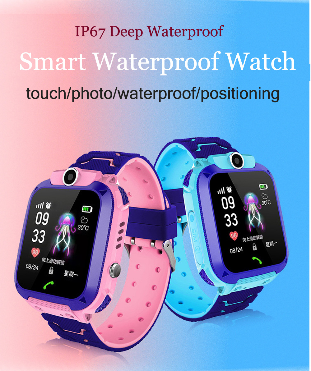 High Quality Newest Waterproof Tracker Smart Kids Child Watch Anti-lost SOS Call Smart Watch For iOS Android 10