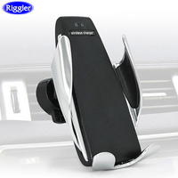 Riggler 10W Car Wireless Charger Magic Auto Clamp Phone Charging Holder for Samsung S9S8 Note9 /8 Huawei Mate 20Pro Air VentClip