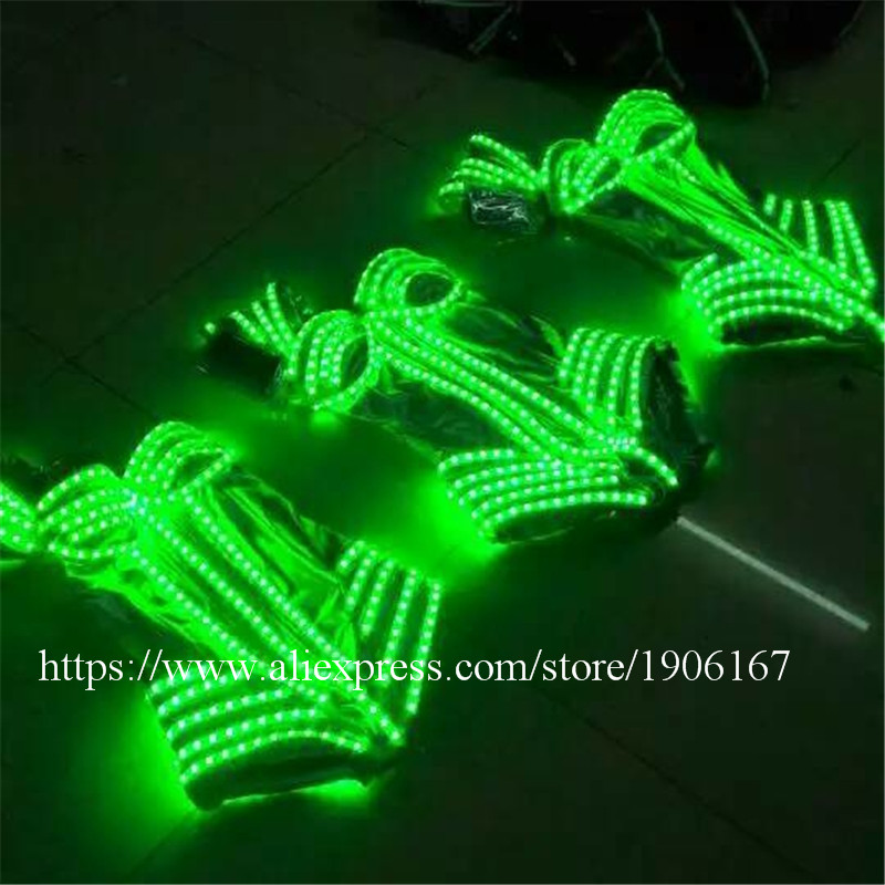 7 Colors Led Light Luminous Flashing Growing Costume Halloween Dance Suit Sexy Lady dress3