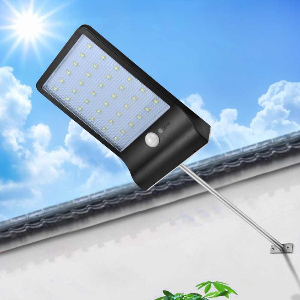 Аварийного Солнечная дорожка огней экономии энергии солнечных Перезаряжаемые Мощность напольный светильник настенный для Сад Двор ночник с ПИР движения