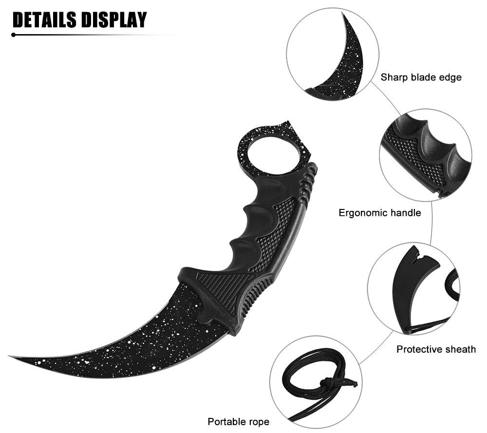 CSGO vasturünnak hawkbill taktikaline küünis karambit kaelas nuga - Käsitööriistad - Foto 3