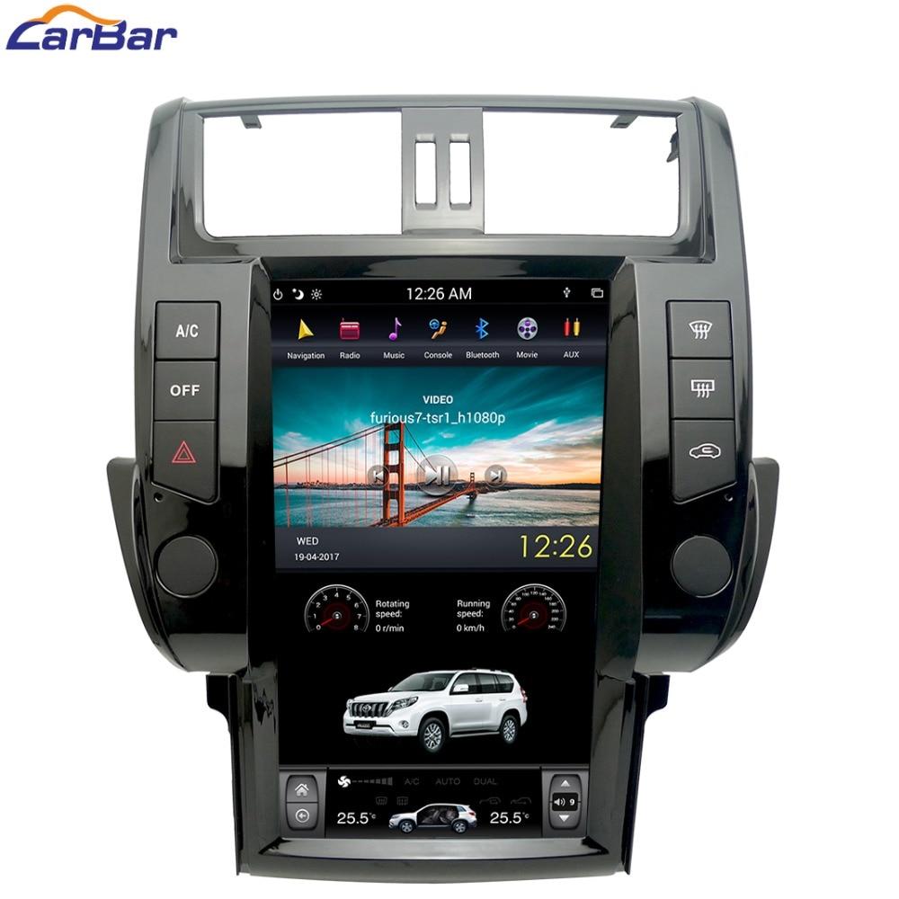 13,6 плюс Tesla Syle вертикальный экран Android Автомобильная dvd-навигационная система радио плеер для Toyota Prado 150 Land Cruiser 2010-2017