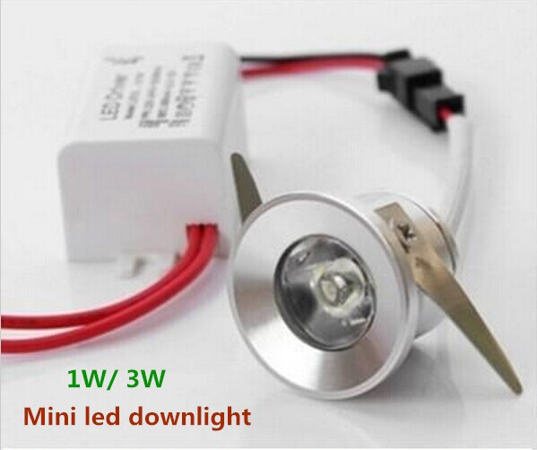 10pcs/lot 1W/3W mini led down lights dimmable led cabinet light AC110V220V Mini led lamps white or Warm white US UK EU