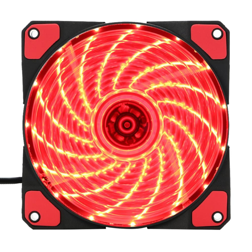<font><b>120</b></font>*<font><b>120</b></font>*25mm 12V 15 Lights LED Ultra Silent Computer PC Fan Case Cooling <font><b>Cooler</b></font> Heatsink Fan image