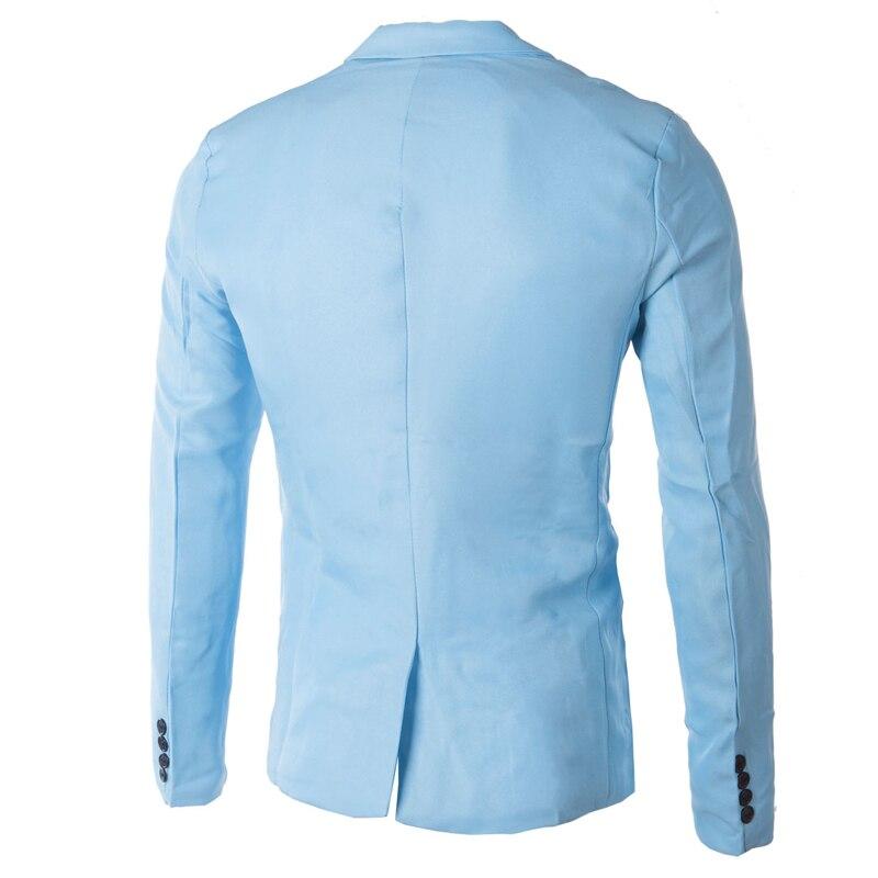 Brand Sky Blue Blazer Men Costume Veste Homme 2017 New Arrival Mens Slim Fit Blazer Jacket Stylish Red Black Pink Suit Men 3XL 3