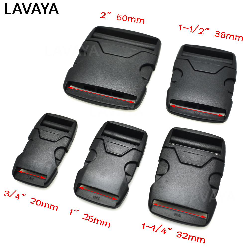 1pcs 20mm 25mm 32mm 38mm 50mm Webbing Plastic Side Release Bump Buckle For Backpack Straps Luggage