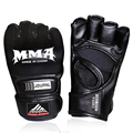 2016 Hot Sale Red White Black Half Mitts Boxing luva boxe Half Finger Training Gloves Men mma Fight Equipment PU Leather Gloves