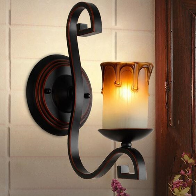Candle Wall Light: Wall Candle Lights: Aliexpress.com : Buy Modern Iron Candle Light Wall  Sconce Rustic,Lighting