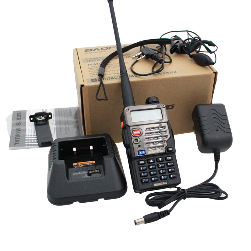 Baofeng UV-5RE+ PLUS Police Walkie Talkie Scanner Radio Dual Band Cb Ham Radio Transceiver UHF 400-520MHz VHF136-174MHz
