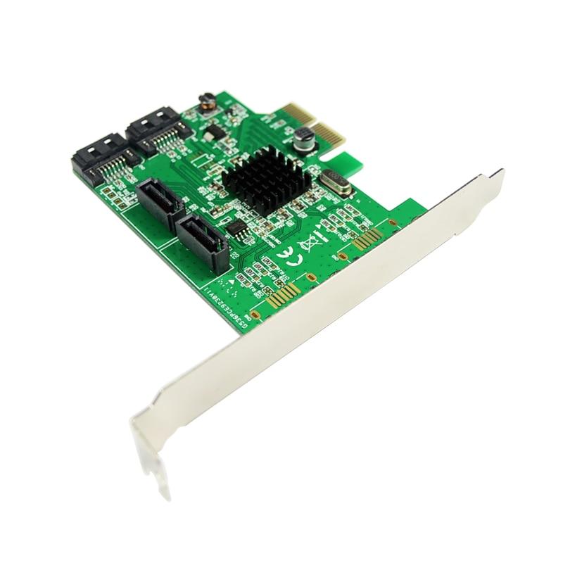 Marvell 9235 Ներքին 4 պորտ SATA 3.0 SSD PCI-e Card Quad - Համակարգչային բաղադրիչներ - Լուսանկար 4