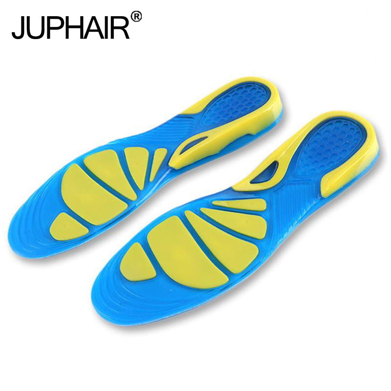 JUP 1 Pair Can Be Free to Cut Silicon Gel Breathable  Orthotic Arch Supports Massaging Insoles Military Training Shock Absorber