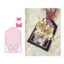 Eastshape Butterfly Tag Dies Metal Cutting Scrapbooking for Card Making DIY Album Decor Paper Craft Stencil New 2019