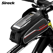 Sireck Bicycle Bag 6″ Touchscreen MTB Road Bike Bag Phone Case Cycling Top Front Frame Tube Bag Saddle Bags Bike Accessories