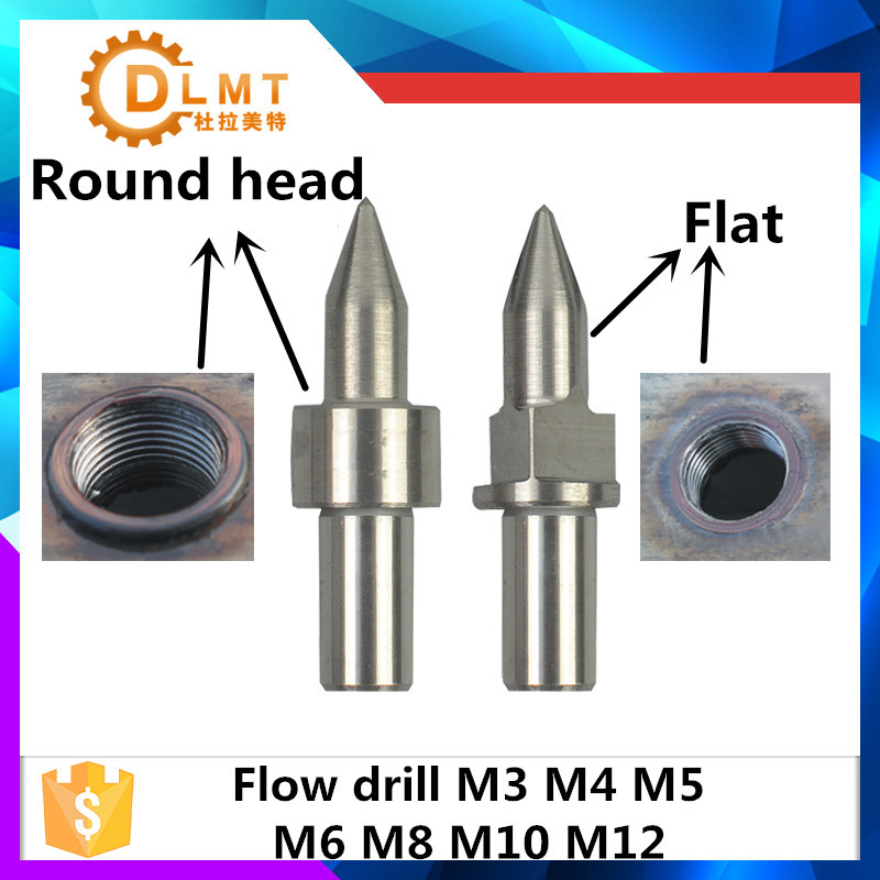 Round Head Tungsten Carbide Flow Drill M3 M4 M5 M6 M8 M10 M12 Form Drill Standard Round Type And Thread Forming Tap