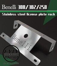 รถจักรยานยนต์อุปกรณ์เสริม 304 สแตนเลสใบอนุญาตสำหรับ Benelli tnt 300 302 250
