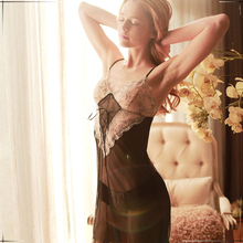 Hot Sexy lingerie sexy costumes women slips sexy underwear curve sleepwear sexy set Backless Intimates perspective Pajamas 1860