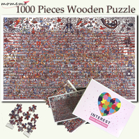 MOMEMO Cartoon Character Collection Puzzle 1000 Pieces Wooden Adult Jigsaw Puzzle Entertainment Puzzle Game Toy for Children